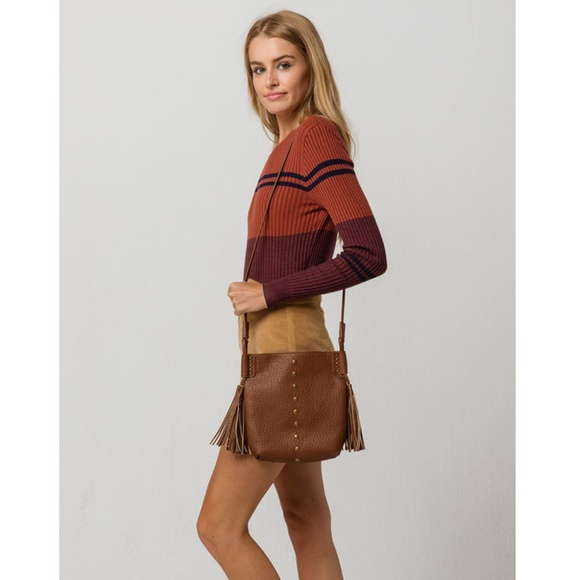 Handbags - Simple Chic Brown Tassel Crossbody Bag
